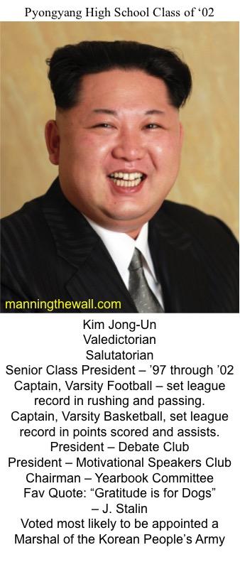Kim Jong-Un Yearbook @manningthewall.com